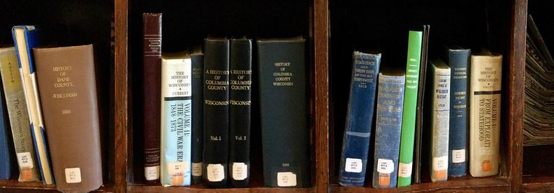 shelve of local history books