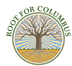 Root for Columbus logo showing a tree with long branches and roots