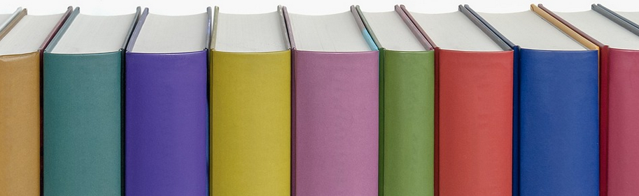 Row of Multicolor Books